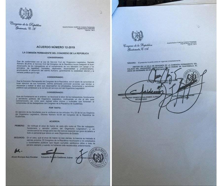 Acuerdo 12-2019