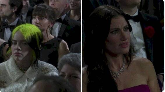 Billie Eilish y la actriz Idina Menzel.