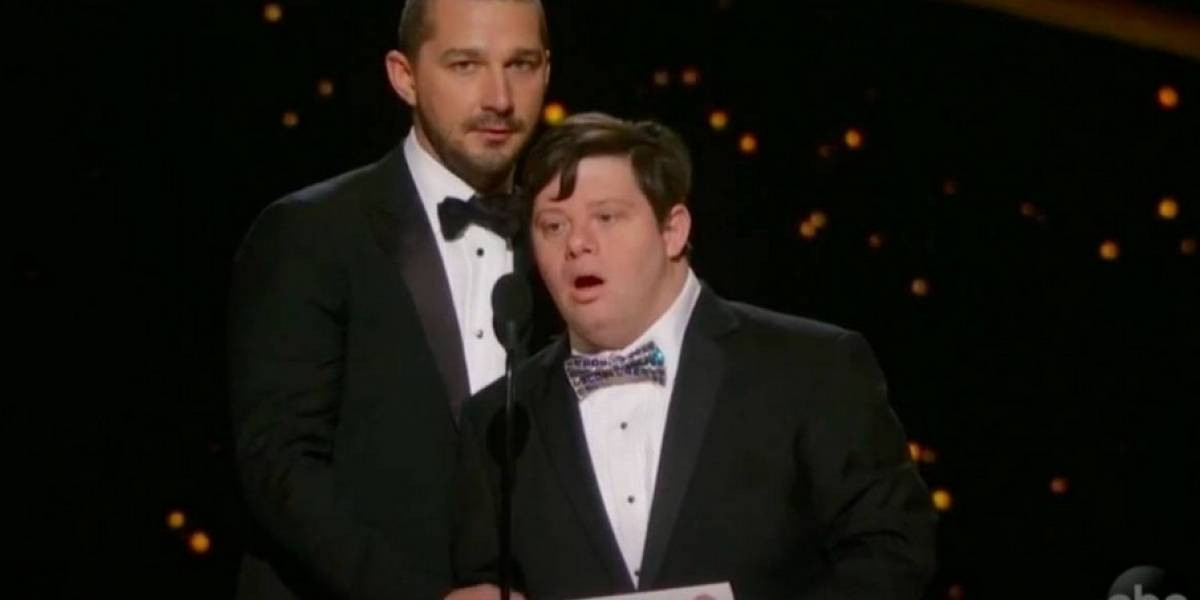 """Arremeten contra Shia Labeouf por presunta """"impaciencia"""" hacia actor con síndrome de Down en los Óscar"""