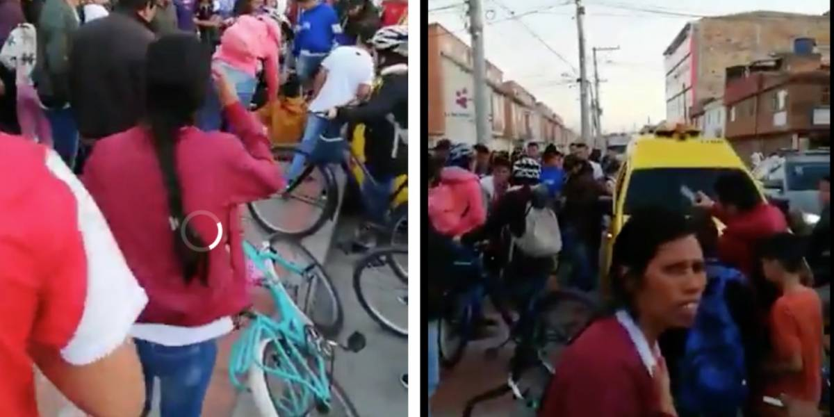 (VIDEO) Escolta disparó a joven ciclista que se estrelló contra carro de valores