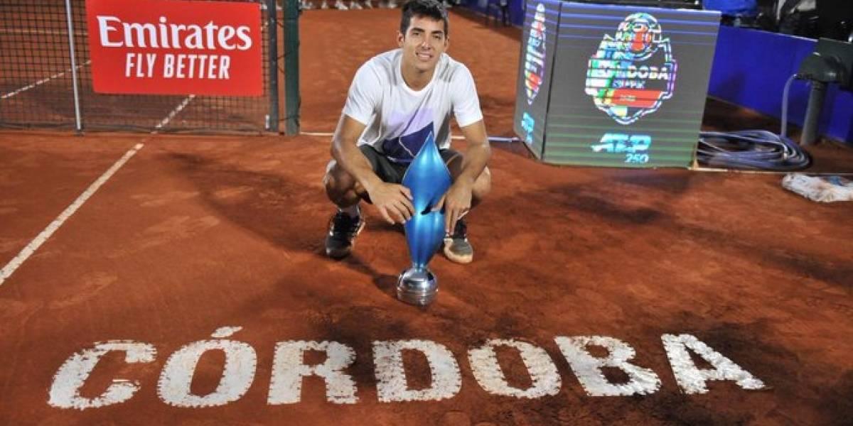 Garin sigue las celebraciones tras el título en Córdoba y la ATP le confirma su mejor ranking histórico