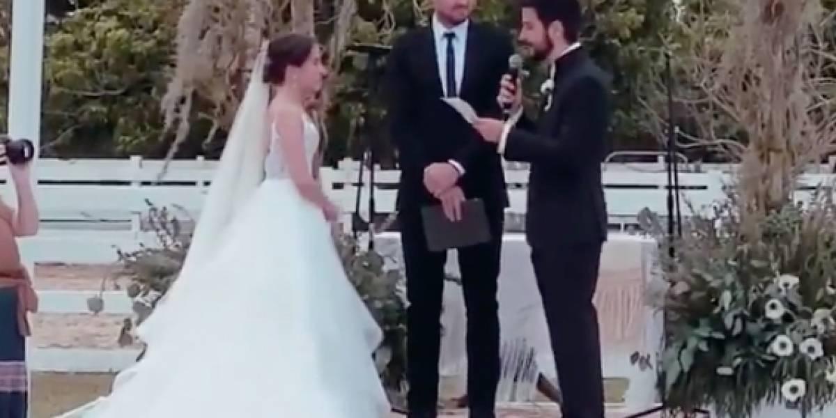 (Video) La llorada que Camilo Echeverry tuvo mientras se casaba con Evaluna en pleno altar