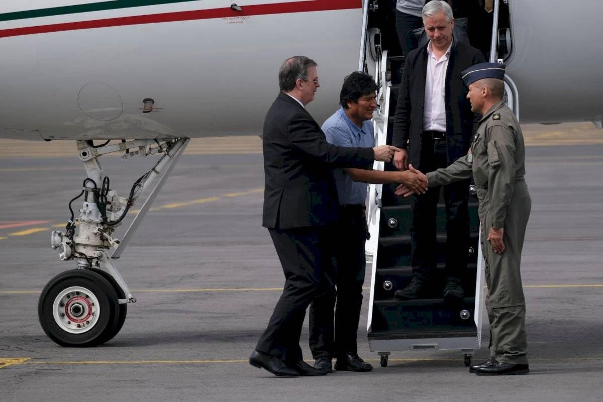 Evo Morales cuando llegó a México en noviembre de 2019.