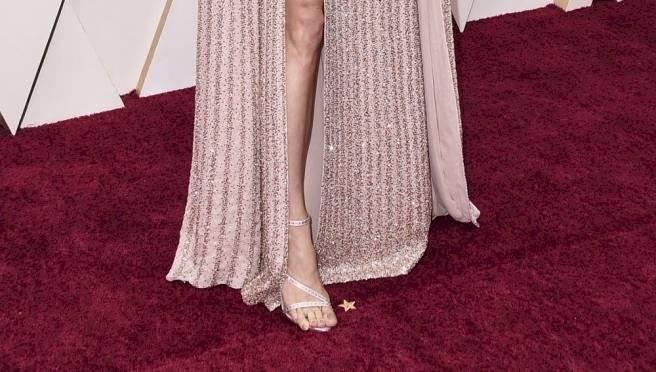 El dedo del pie de Brie Larson en los Oscar 2020 le jugó una mala pasada Internet