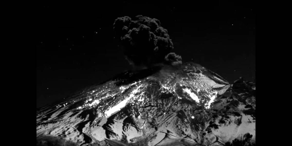 Popocatépetl registra impresionante explosión que duró 3 minutos