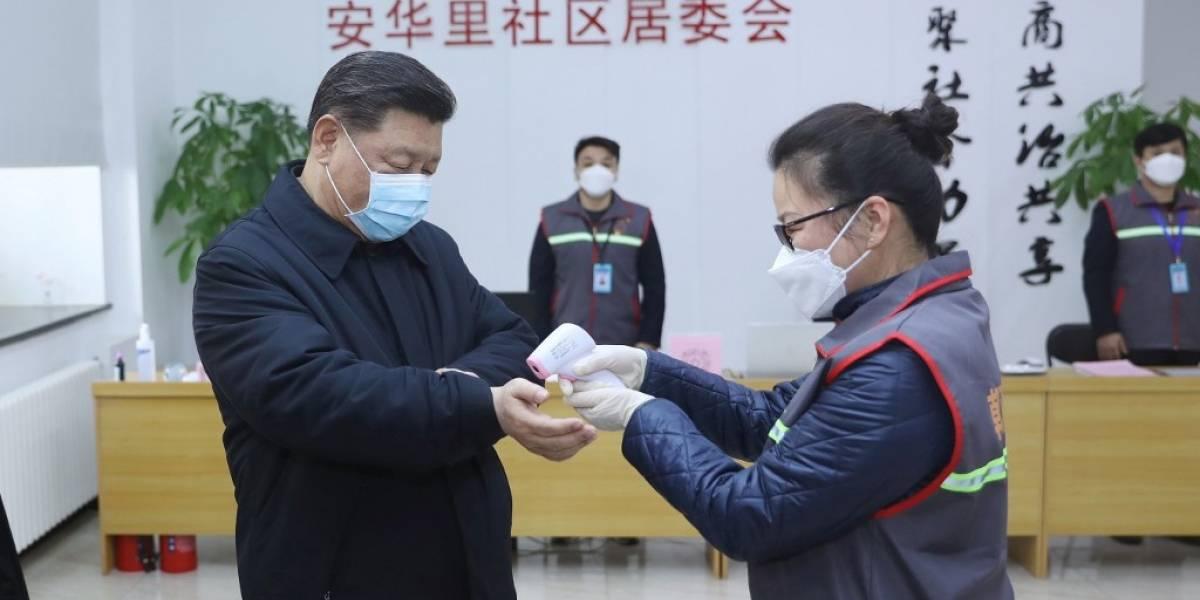 Presidente chino aparece por primera vez con mascarilla, en medio de crisis por coronavirus