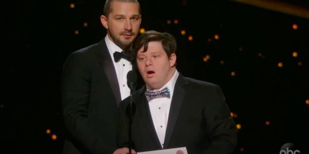 """Arremeten contra Shia Labeouf por presunta """"impaciencia"""" hacia actor con síndrome de Down en los Oscar"""