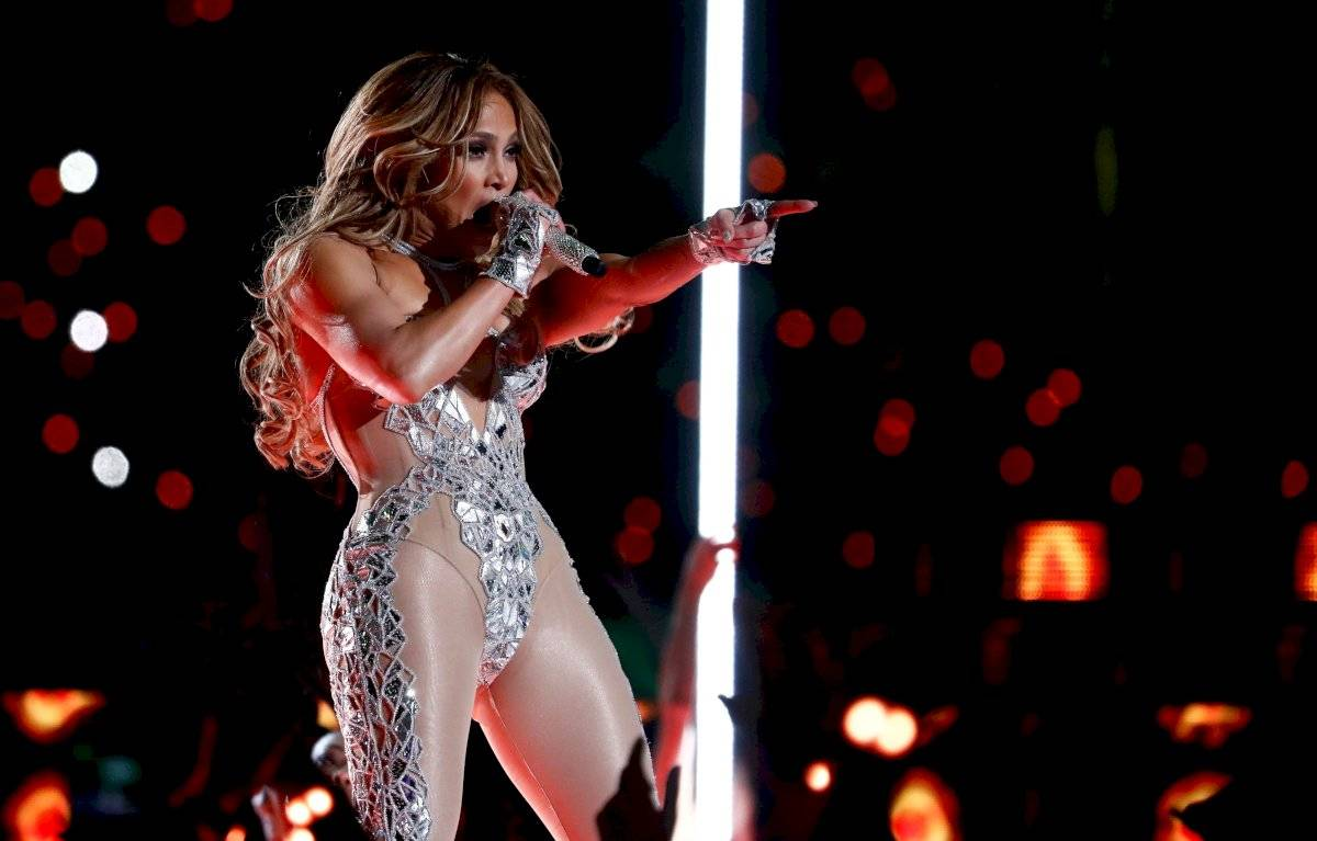 Jennifer Lopez en el Super Bowl
