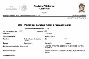 Acta constitutiva de Loma de Irapuato, S.A. de C.V