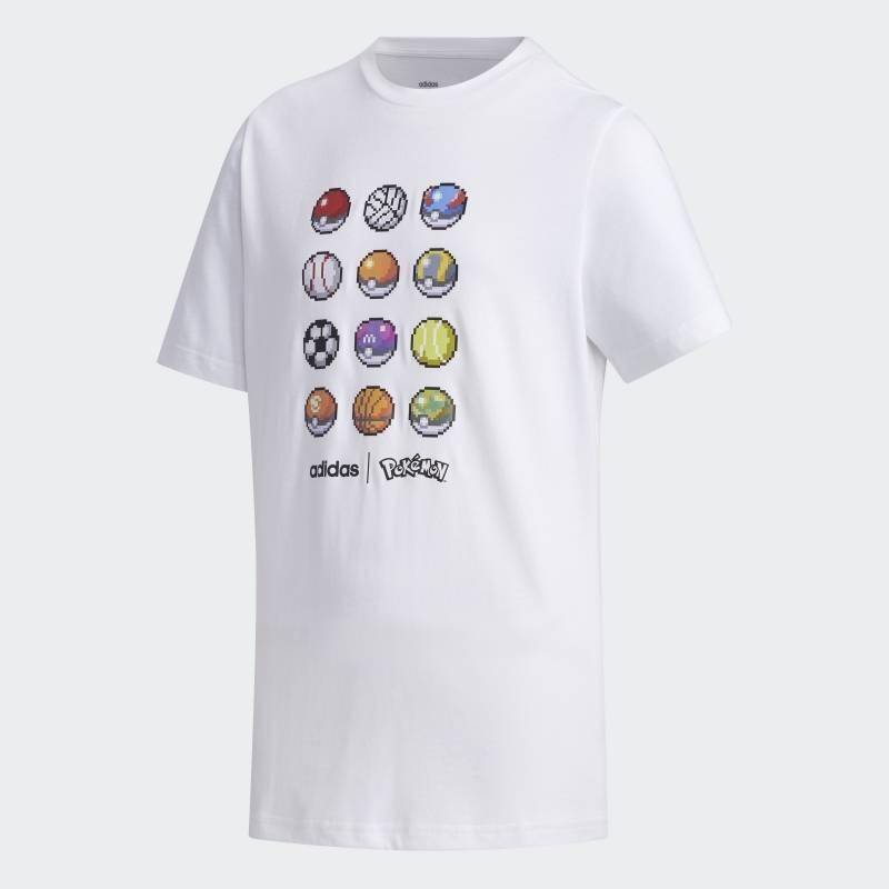 """Camiseta """"Pokebolas"""" - branca Divulgação"""
