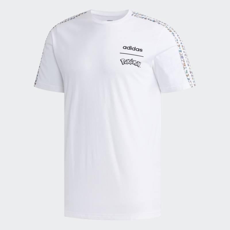 """Camiseta """"Treinador Pokémon"""" - branca Divulgação"""