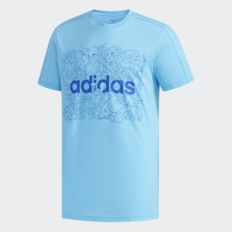 """Camiseta """"Pokémons""""- azul Divulgação"""
