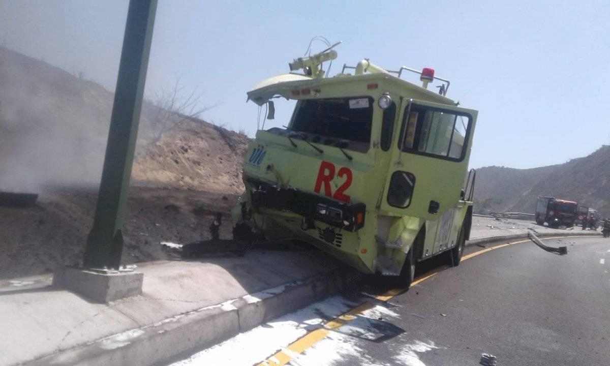 Incendio vehicular en Guayllabamba