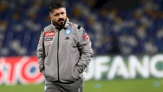 Gennaro Gattuso, DT del Napoli.