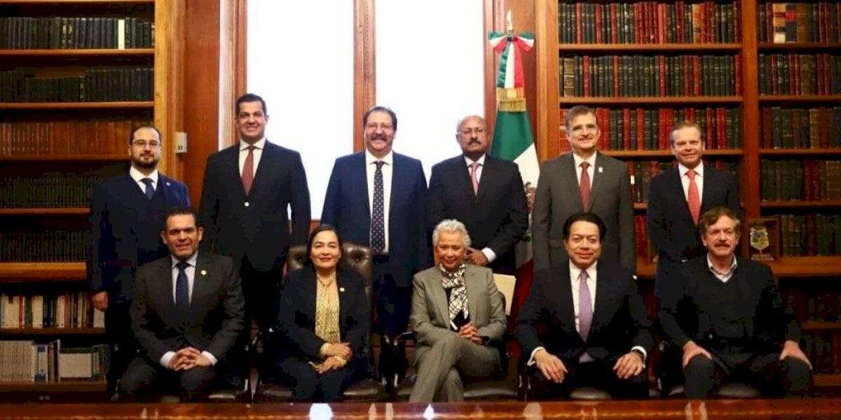 Se reúne Sánchez Cordero con coordinadores parlamentarios