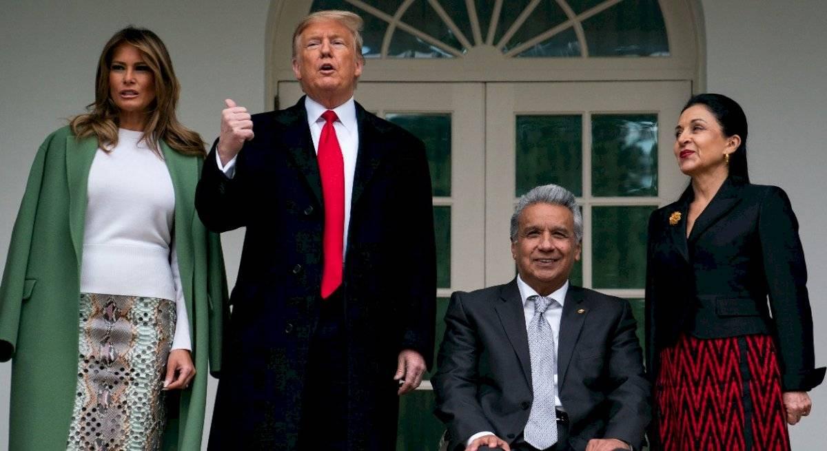Lenín Moreno y Donald Trump