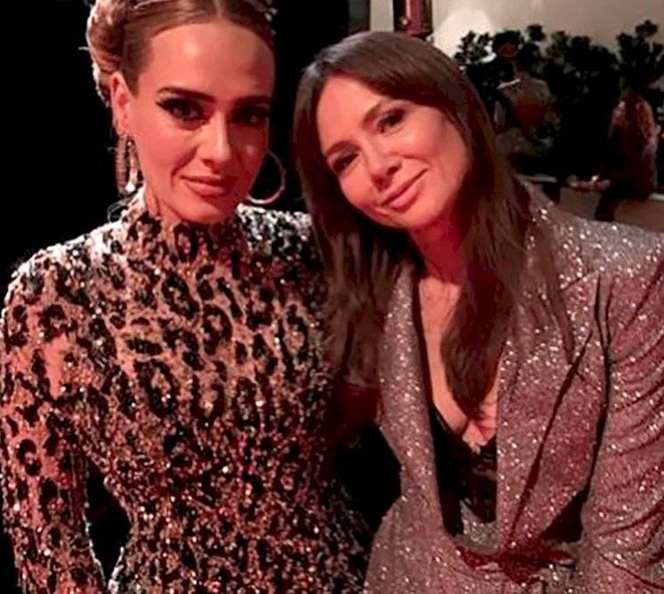 Adele y la presentadora polaca