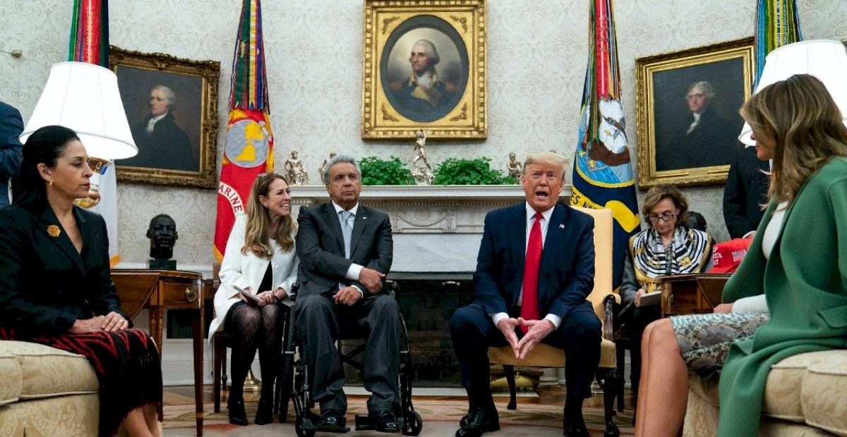 Reunión entre Lenín Moreno y Donald Trump