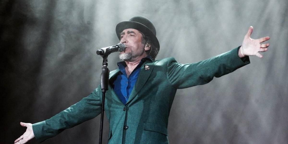 Operan de urgencia a Joaquín Sabina por un derrame cerebral tras caerse del escenario