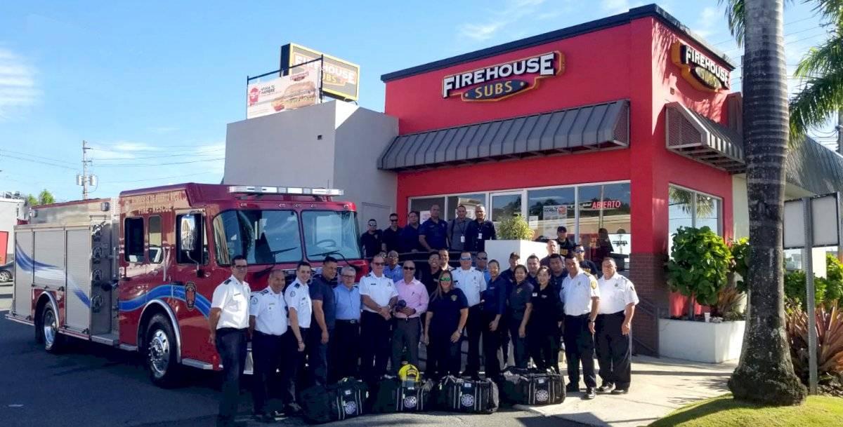 Fire House Subs y Bomberos de Puerto Rico