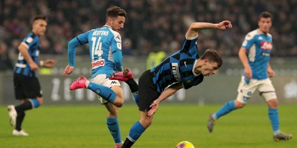 Inter de Milan cayó ante Napoli por Copa Italia en un opaco partido y con un Alexis Sánchez sin brillo