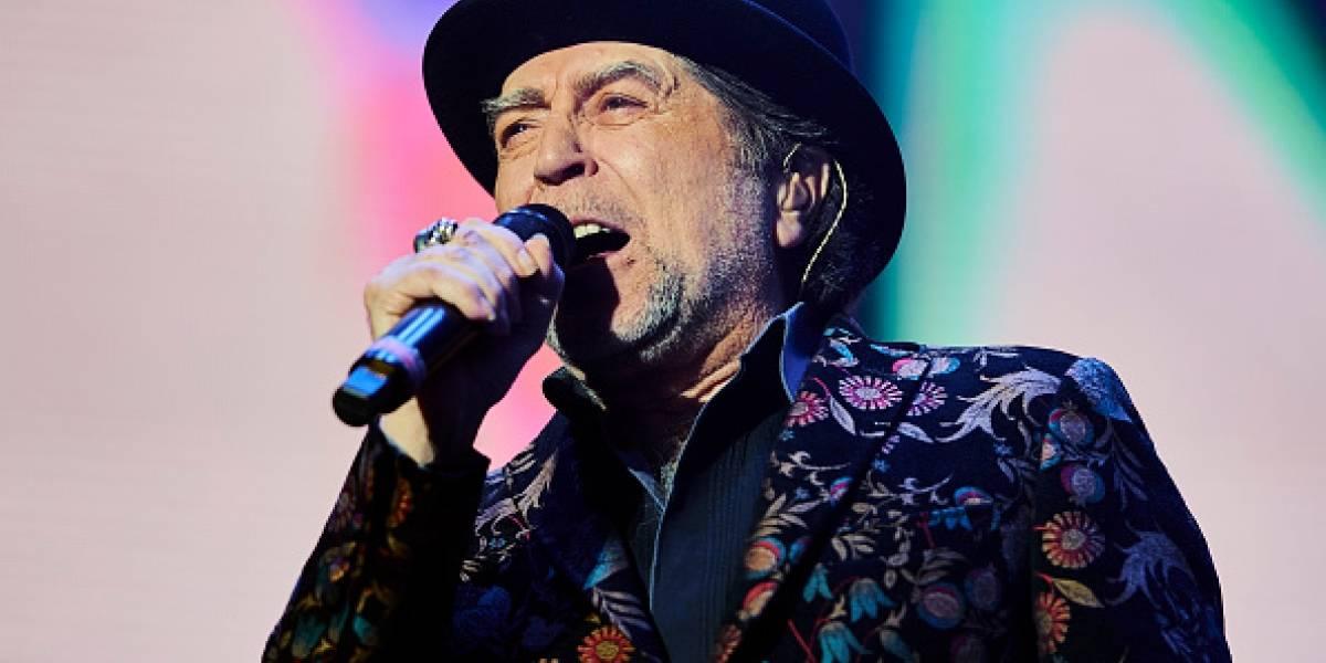 Un foco provocó caída de Joaquín Sabina en concierto de donde fue retirado en camilla