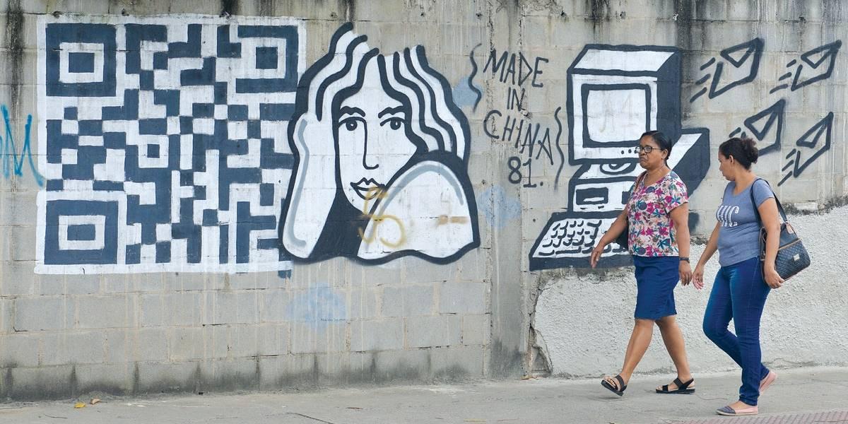 Grafites espalhados por bairros de Vitória trazem um diferencial: o uso de um QR Code