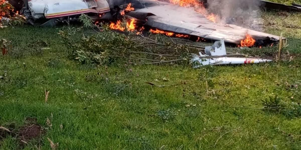 ¡ATENCIÓN! Avioneta se desplomó al norte de Bogotá