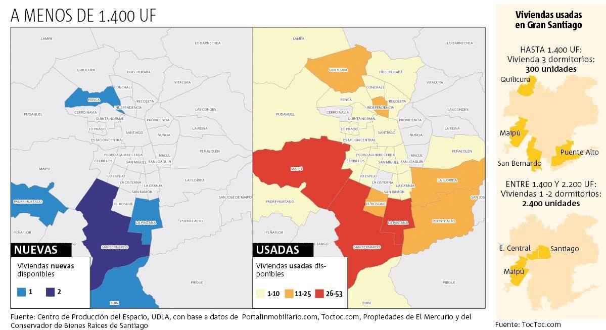 Mapa viviendas 1.400 UF