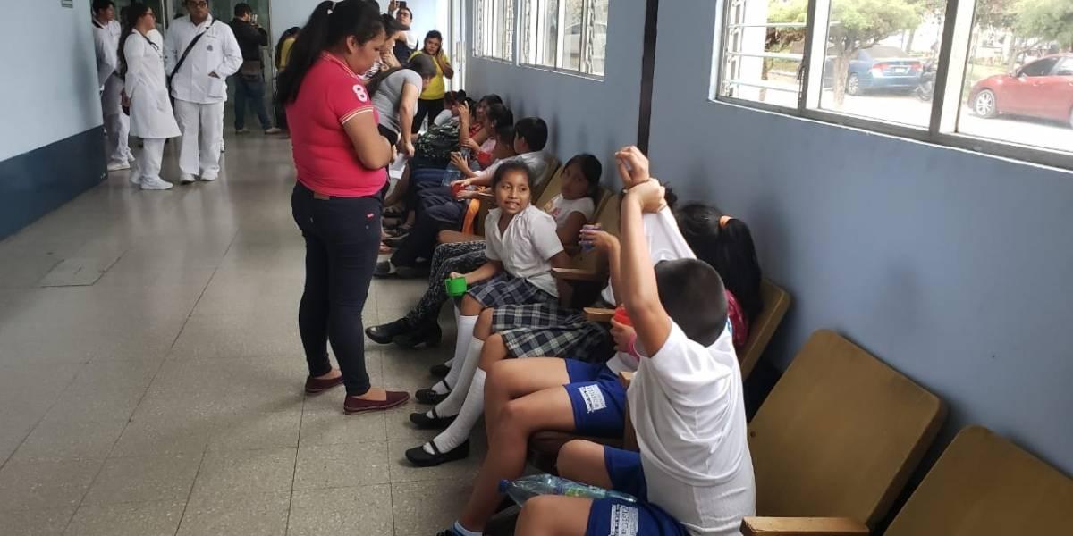 Niños regresan a clases tras intoxicación en una escuela de San Marcos