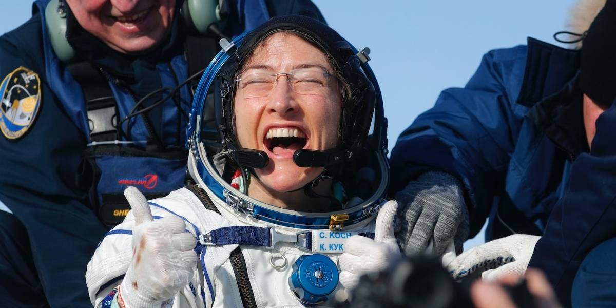 Astronauta dice sentirse bien tras casi un año en el espacio