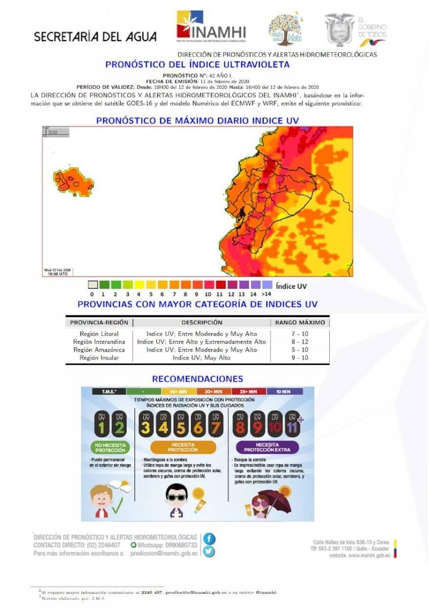 Radiación alta en la Sierra