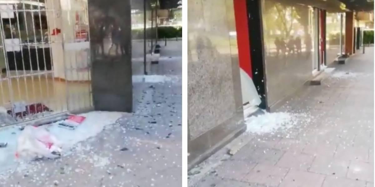 (VIDEO) Vándalos destruyen Davivienda en el norte de Bogotá