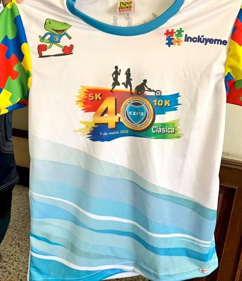 Foto @GuatemalaAcd   La playera conmemorativa será en alusión a Fundación Inclúyeme que atiende a niños con autismo.