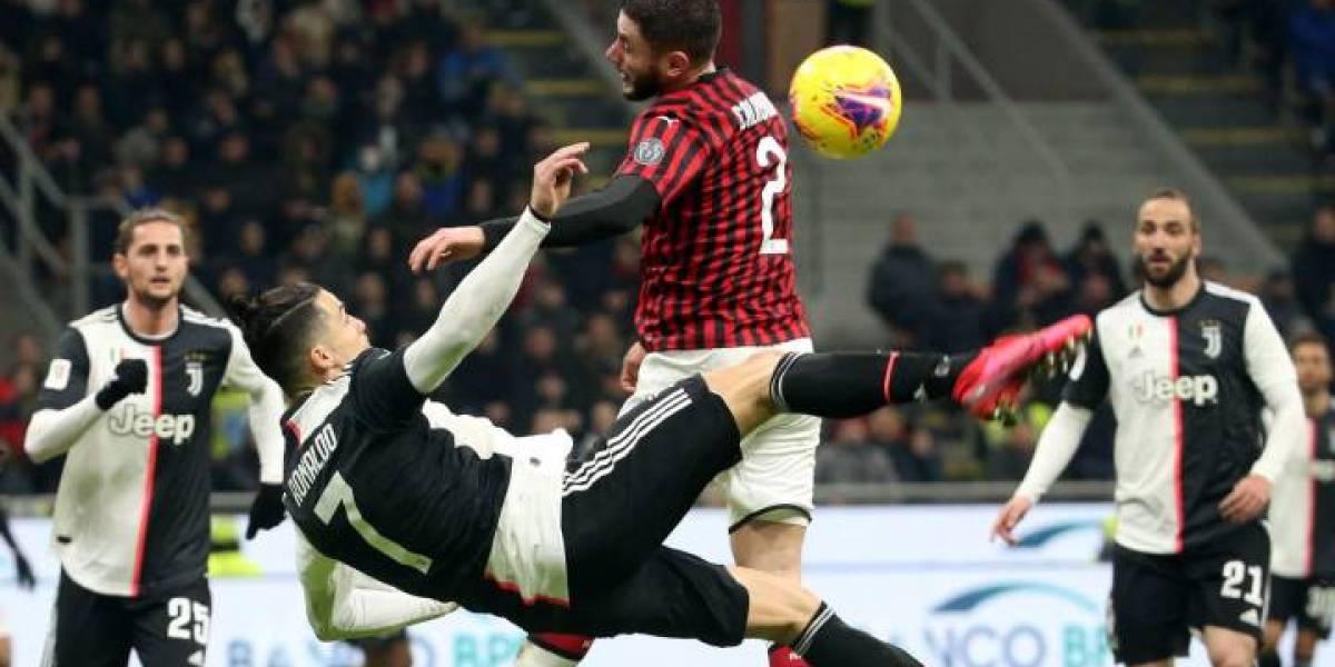 Los números del empate a uno en el Milan vs Juventus de Copa Italia