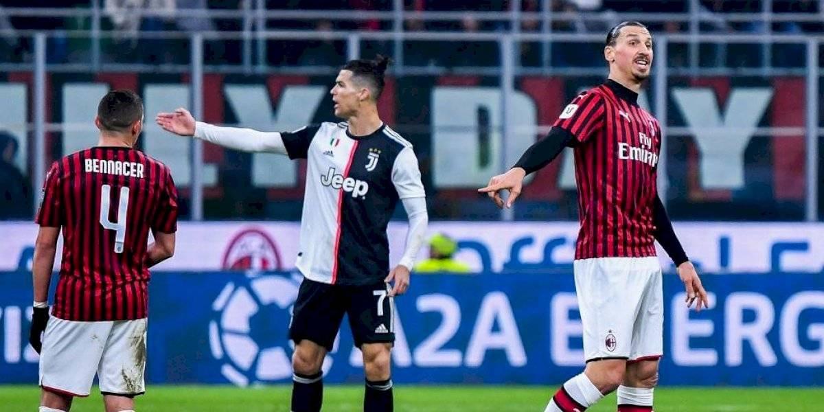 La foto viral de Ronaldo y Zlatan que deja el duelo AC Milan - Juventus