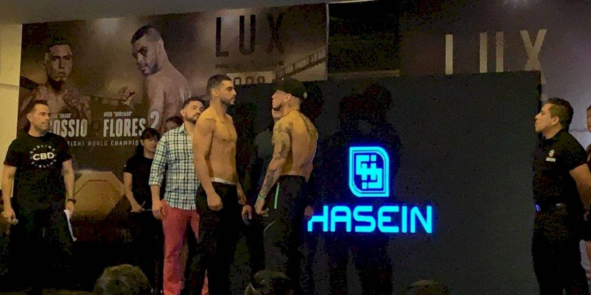 Báscula superada: 'Drako' Cossio y Hugo Flores, listos para Lux Fight League 008