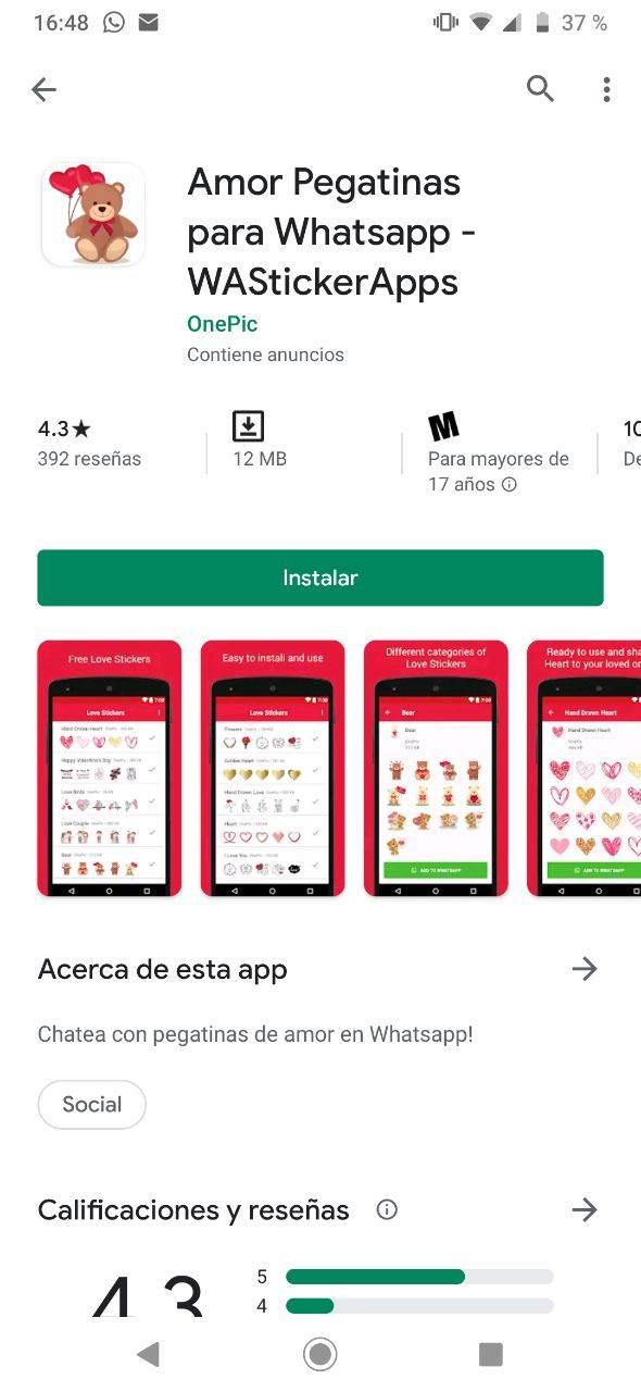 WhatsApp stickers 14 febrero
