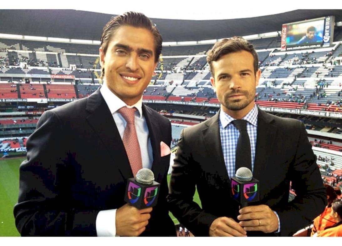 Foto   Rafael Puente Jr. durante su etapa de comentarista en Univision