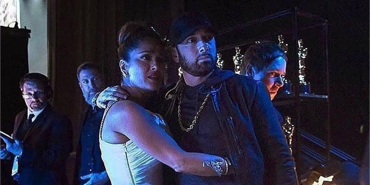 'Hice el ridículo': Salma Hayek cuenta cómo fue su encuentro con Eminem en los Oscar