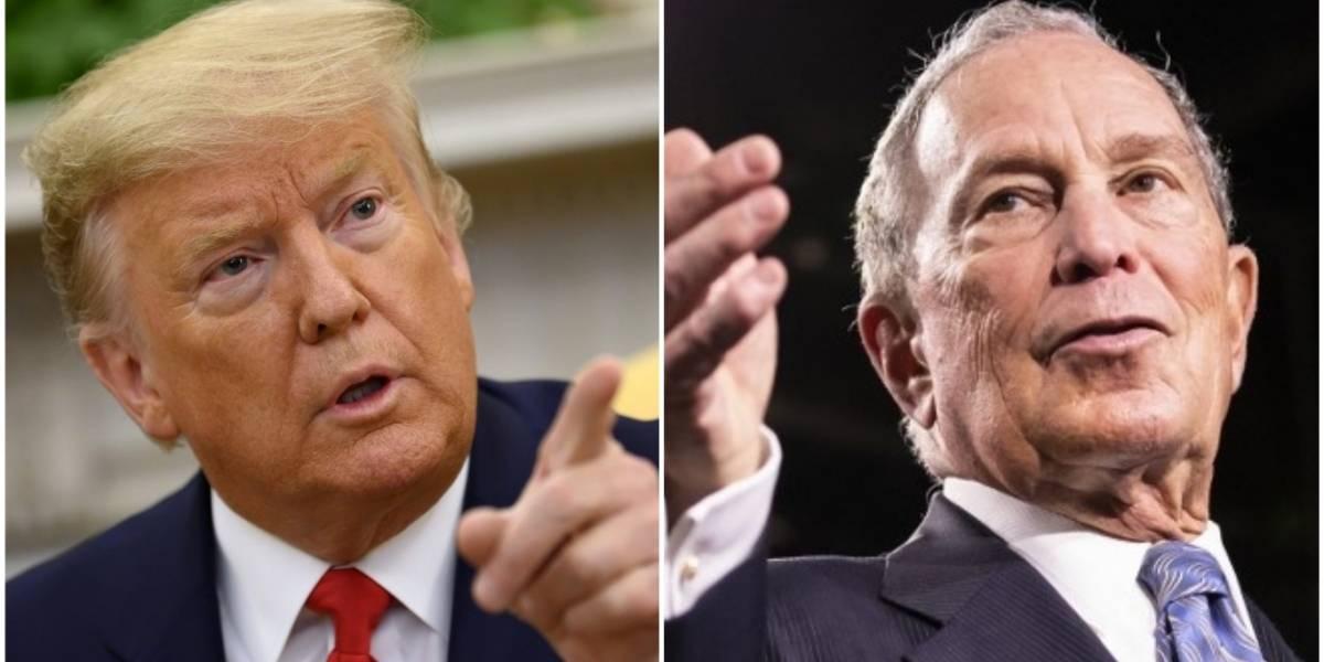 Trump y Bloomberg intercambian insultos en las redes sociales