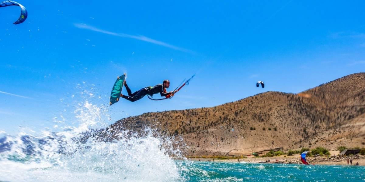 Los mejores exponentes del kitesurf se dan cita este fin de semana en Puclaro