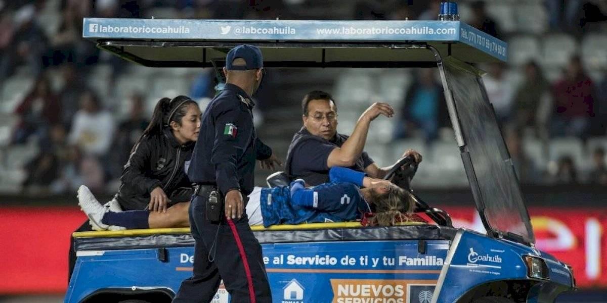 VIDEO: Jugadora de Pachuca sufre espeluznante fractura que la manda al quirófano