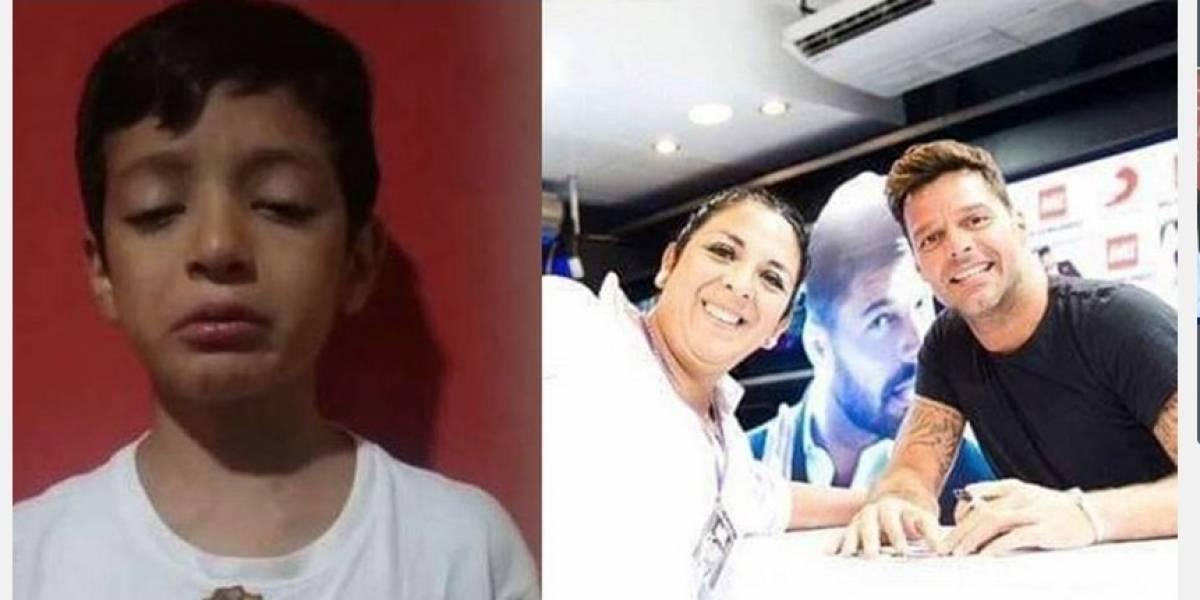 Vuelco total en caso de niño que gastó sus ahorros para que su mamá conociera a Ricky Martin