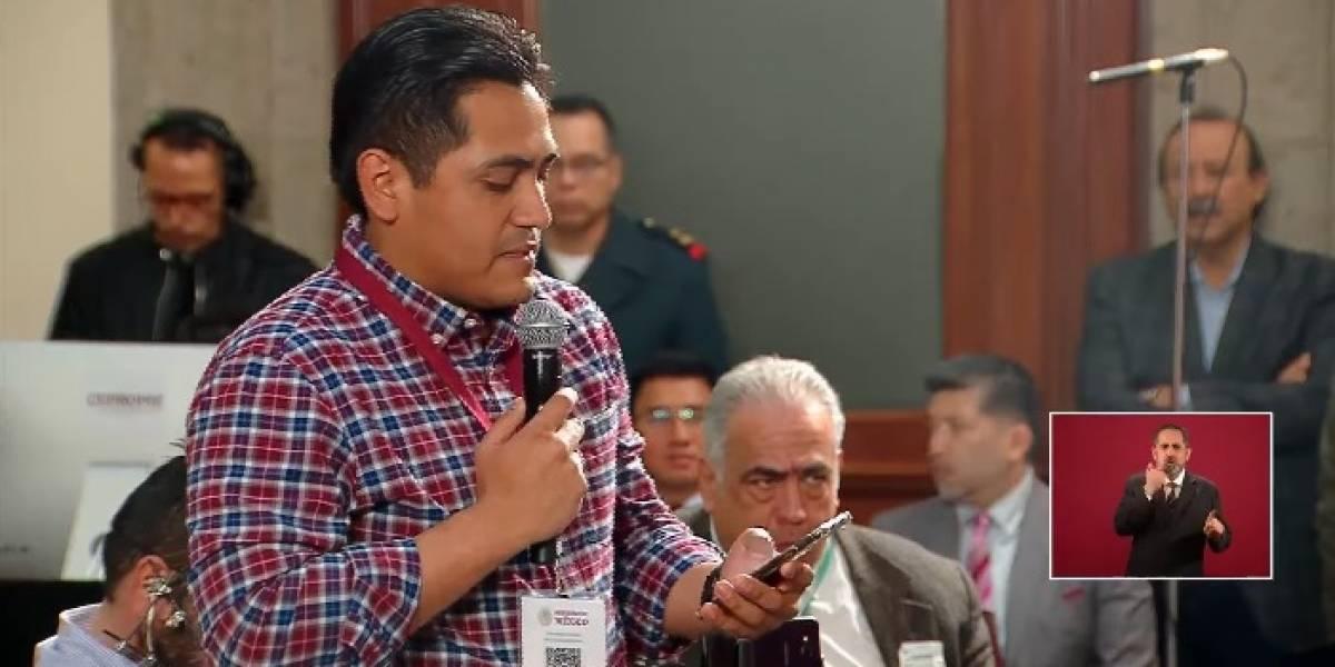 Cuestionan interrupción de Carlos Domínguez en la mañanera