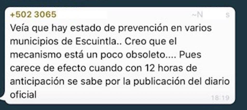 Estado de prevención en seis municipios de Escuintla. Foto: Publinews