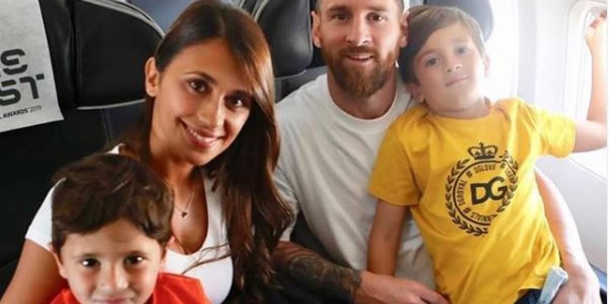 La foto de Messi con Antonela que avergüenza a su hijo mayor