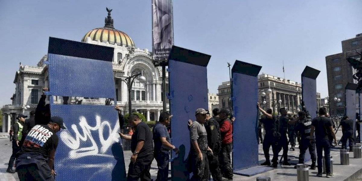 Blindan monumentos por manifestaciones en memoria de Ingrid Escamilla