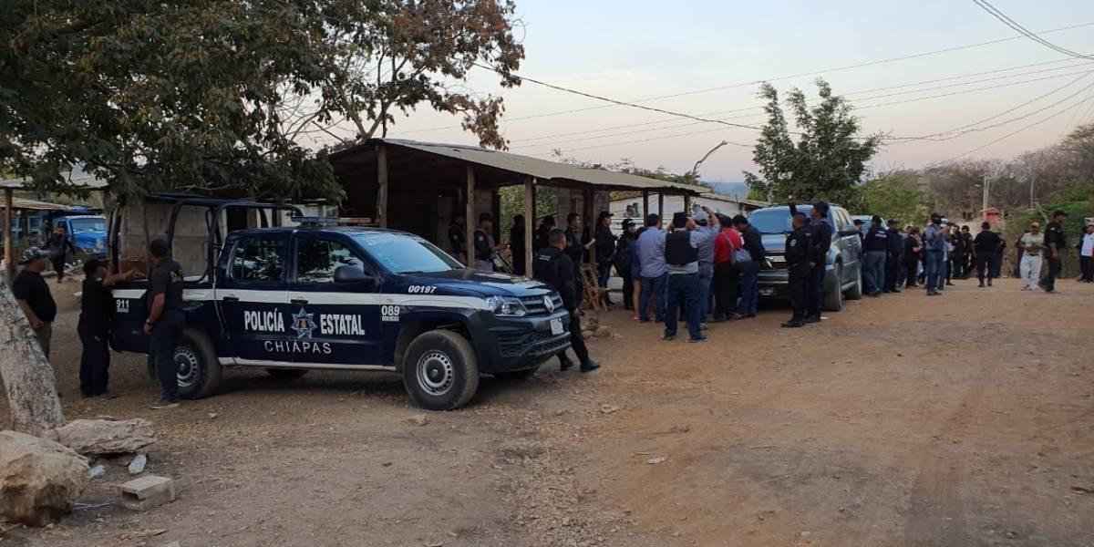 Encabeza Fiscalía desalojo de predio invadido en el cerro Mactumactzá