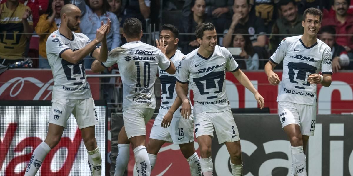 Pumas remonta a Toluca y gana como visitante... ¡7 meses después!